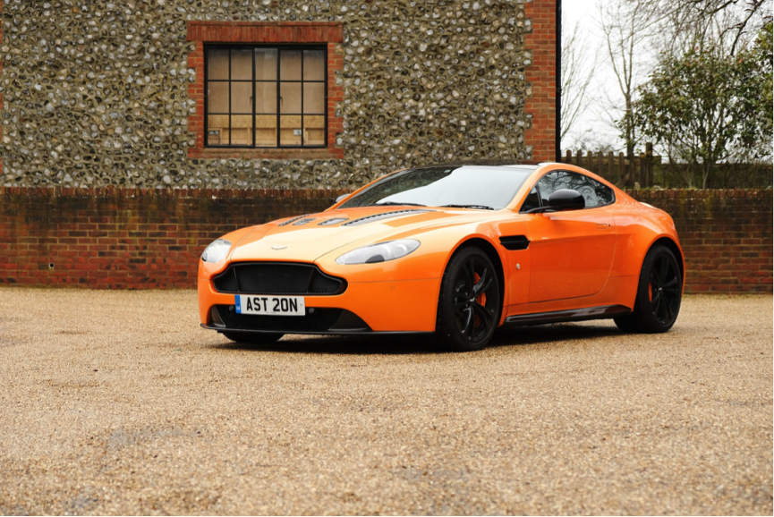 Famous one off hot orange Aston press car
