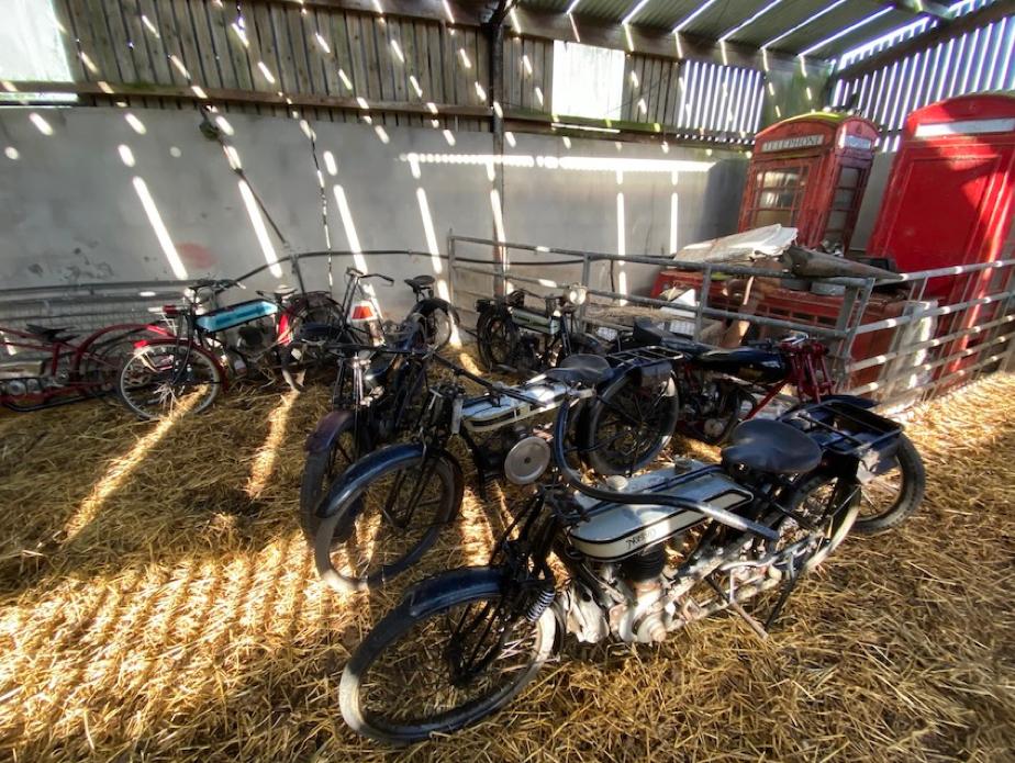 GOLD IN THE STRAW: COLLECTION OF EIGHT BIKES FOUND IN NORTHERN IRELAND BARN OWNED