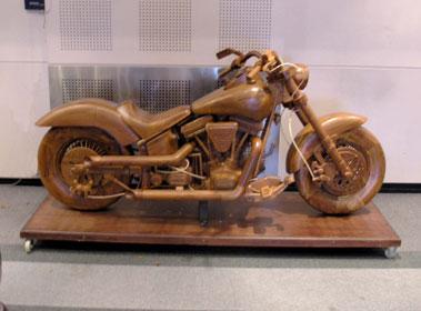 Lot 10-Harley Davidson 'Wooden' Replica