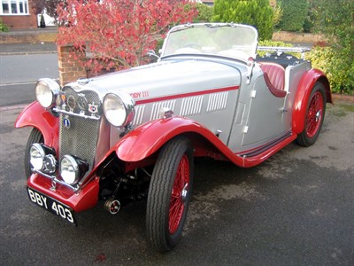 Lot 38-1935 Singer Nine Le Mans 'Ruddy Team' Trials Car