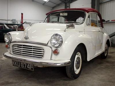 Lot 100-1967 Morris Minor Convertible