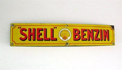 Lot 26 - A 'Shell Benzin' Enamel Advertising Sign