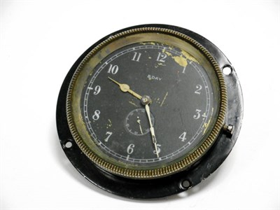 Lot 23 - A Smiths Black-Faced Mechanical Timeclock, c1920s