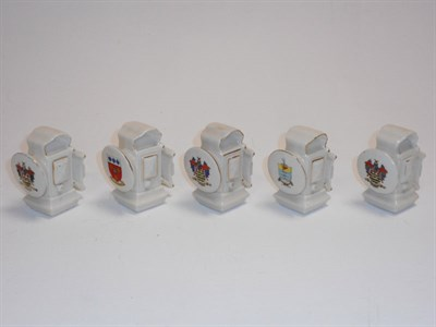 Lot 32 - Crested China Pre-WWI Bicycle Lamps