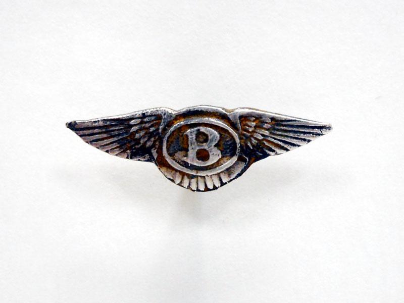 Lot 42-A Silver Bentley Lapel Badge