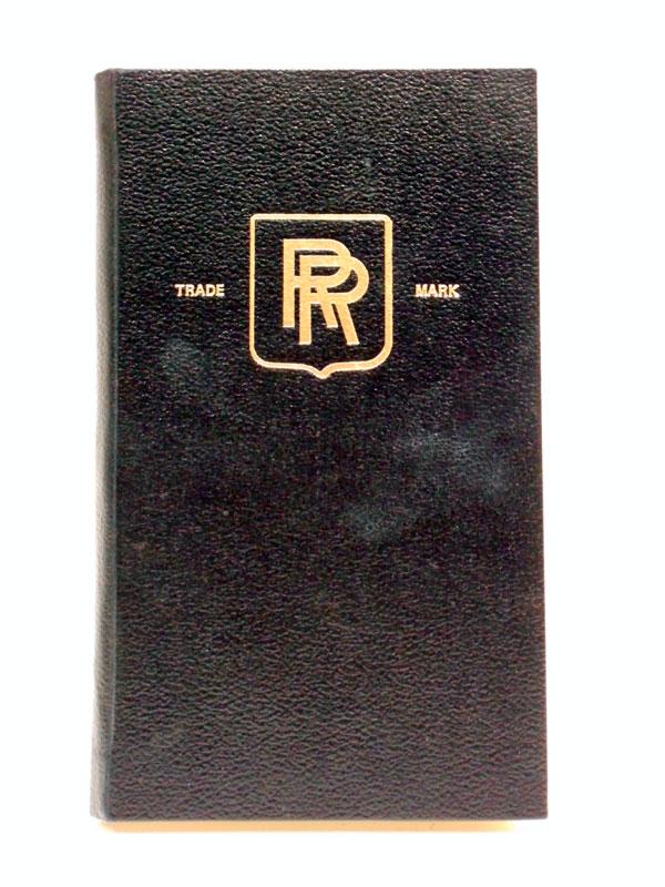 Lot 53-Rolls-Royce 40/50 HP Silver Ghost Instruction Book