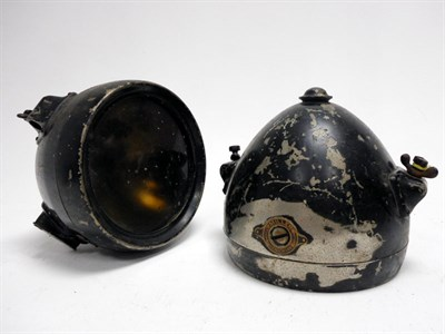 Lot 182-A Pair of Miller Headlamps