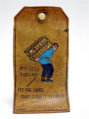Lot 86-A Pictorial Luggage Receipt Holder