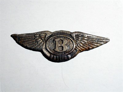 Lot 97-A Bentley 'Winged B' Lapel Badge