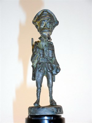 Lot 109-Bronze WWI Standing 'Old Bill' Mascot