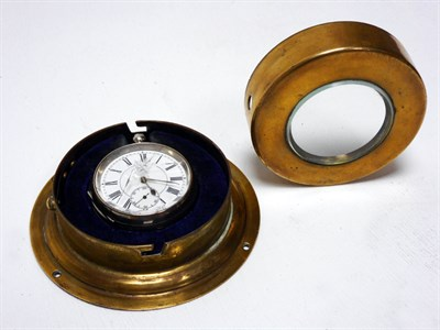 Lot 155-A Brass Bulkhead-Mounted Pocket Watch