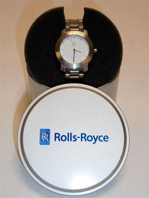 Lot 151-Rolls-Royce Stainless Steel Wristwatch