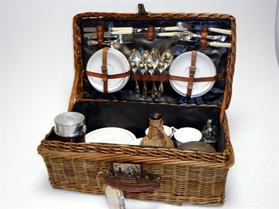 Lot 158-A Four-Person Wicker Picnic Set