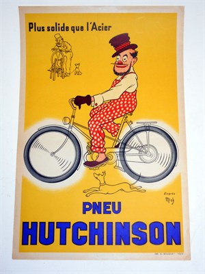 Lot 110-A Rare 'Hutchinson Tyres' Advertising Poster
