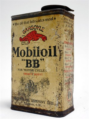 Lot 118-A Rare Mobiloil 'BB' Motorcycle Oil Can