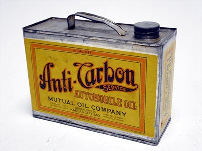 Lot 114-A Rare 'Anti-Carbon Automobile Oil' Can