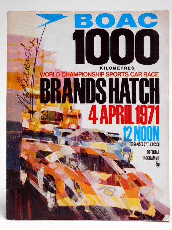 Lot 27-1971 BOAC 1000KM World Sports Car Race Programme (Signed)