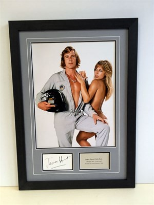Lot 131-James Hunt Autograph Presentation (1947 - 1993)