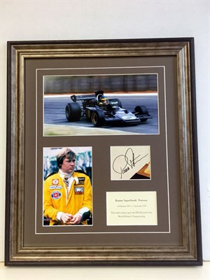 Lot 122-Ronnie Peterson Autograph Presentation (1944 - 1978)