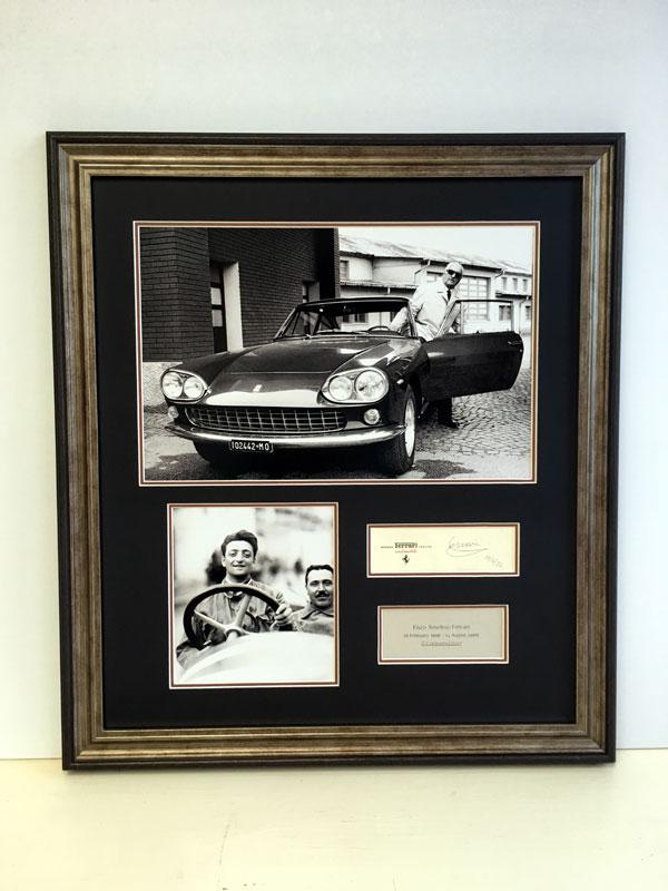 Lot 15-Enzo Ferrari Autograph Presentation (1898 - 1988)