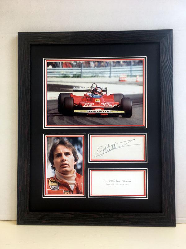Lot 69-Gilles Villeneuve Autograph Presentation (1950 - 1982)