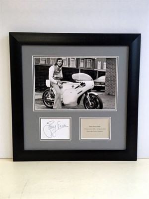 Lot 136-Barry Sheene Autograph Presentation (1950 - 2003)