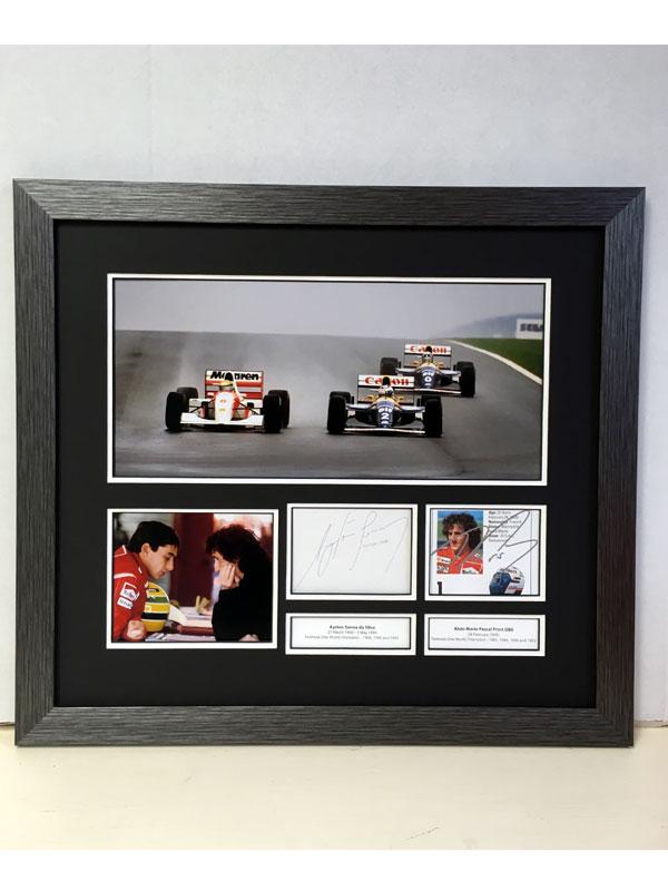 Lot 45-Ayrton Senna & Alain Prost 'Rivals' Autograph Presentation