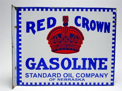 Lot 157-Rare 'Red Crown Gasoline' Enamel Sign