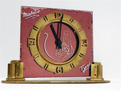 Lot 138-A Rare Michelin Tyres Art-Deco Advertising Clock
