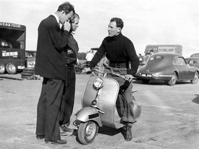 Lot 98-'Stirling Moss on His Vespa'