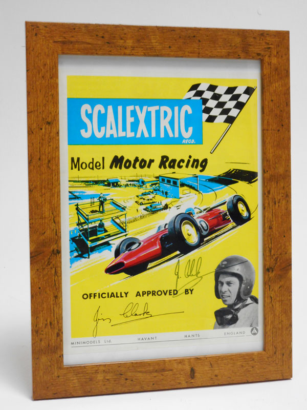 Lot 24-A Scalextric Poster, Signed by Jim Clark