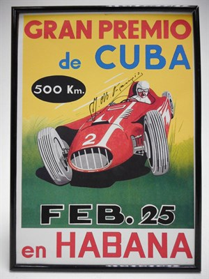 Lot 188-A 1958 Cuban Grand Prix Poster