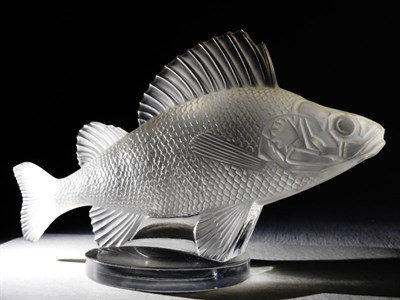 Lot 173-Pre-War Lalique 'Poisson' Mascot