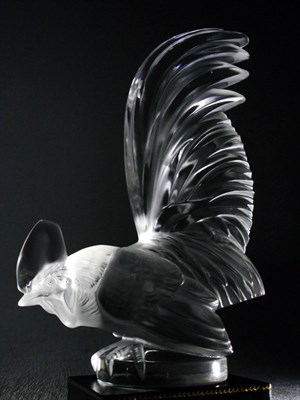 Lot 174-A 'Coc Nain' Glass Accessory Mascot by R. Lalique