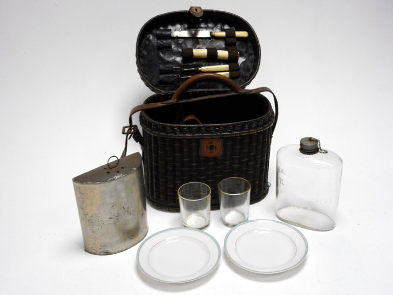 Lot 91-A Very Early Travelling Picnic Set, c1904