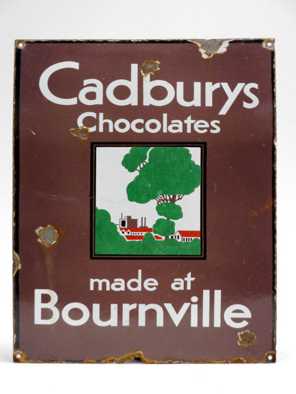 Lot 65-Cadburys Chocolate 'Factory' Enamel Sign