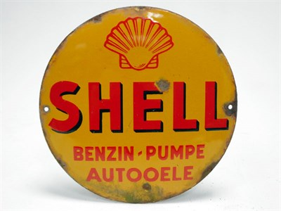Lot 176-Shell Petrol Pump / Motor Oil Enamel Sign