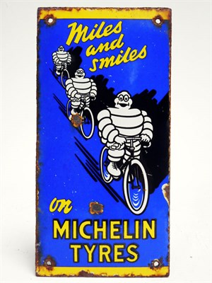 Lot 191-Michelin Tyres Enamel Finger Plate