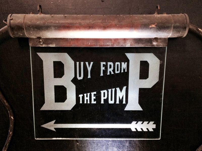 Lot 63-A Rare BP Illuminated Sign, 1930s