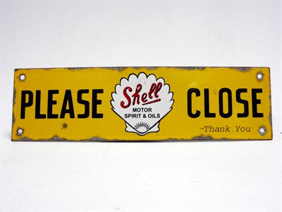 Lot 106-A Shell 'Please Close' Enamel Sign
