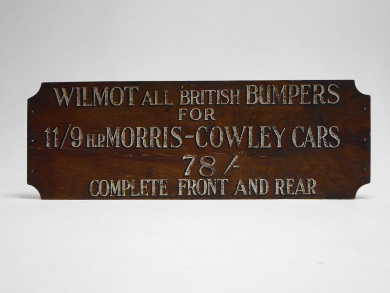 Lot 31-'Wilmot British Bumpers' Advertising Sign