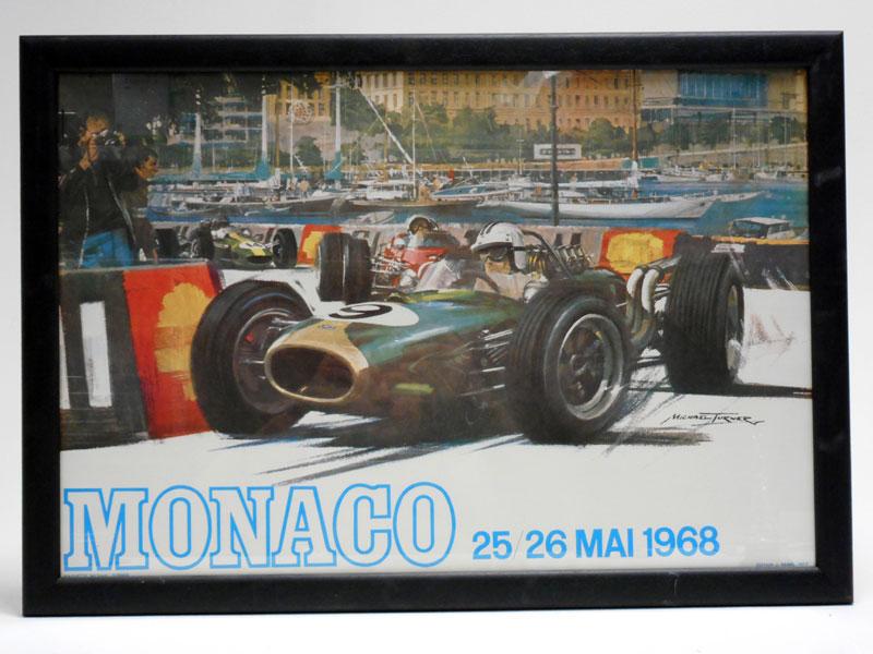 Lot 57-1968 Monaco Grand Prix Poster