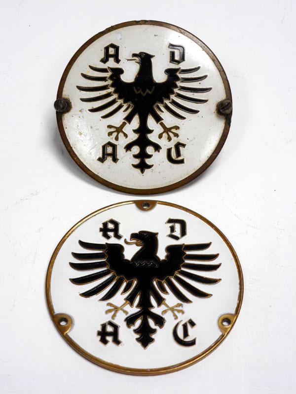 Lot 35-A Pair of German A.D.A.C Badges