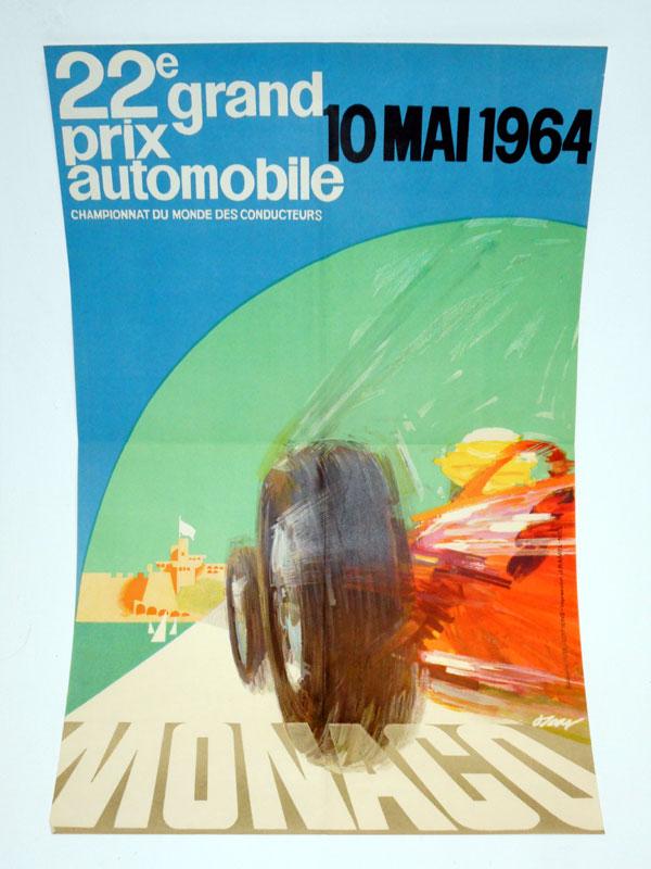 Lot 9-A Rare 1964 Monaco Grand Prix Poster