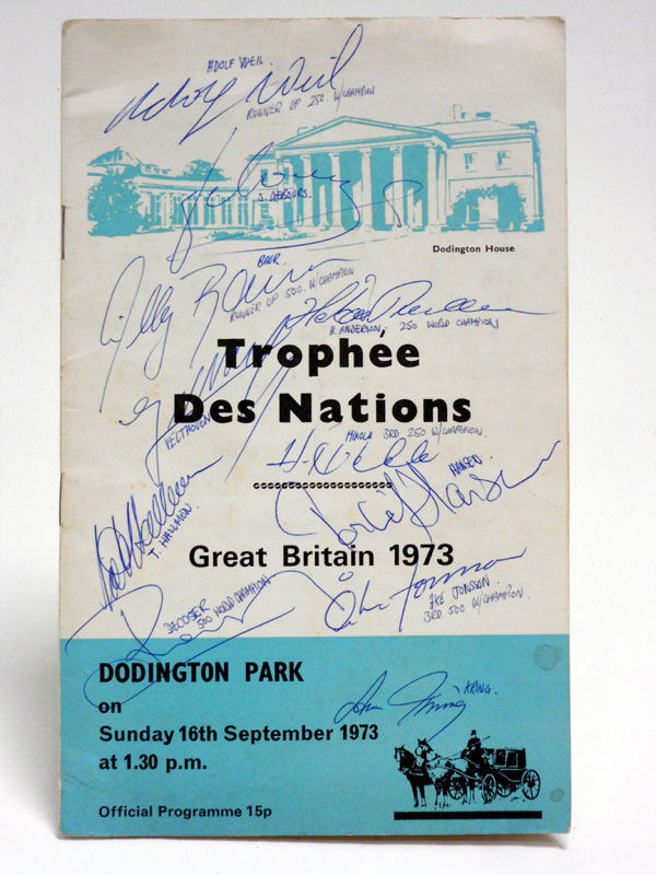 Lot 52-1973 Trophee des Nations Signed Programme