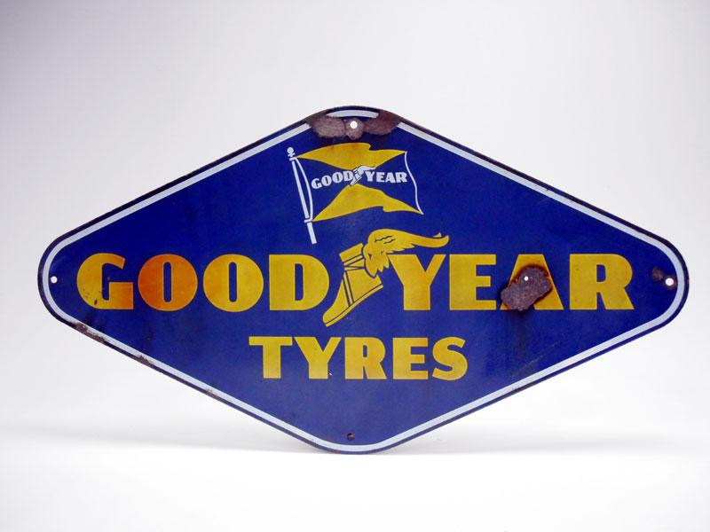 Lot 1-A Goodyear Enamel Sign