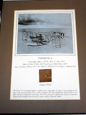 Lot 133-Curtis Aircraft Fabric Sample Presentation Set
