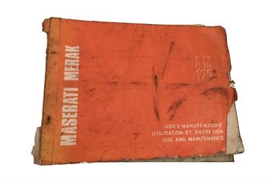 Lot 130-A Maserati Merak Handbook