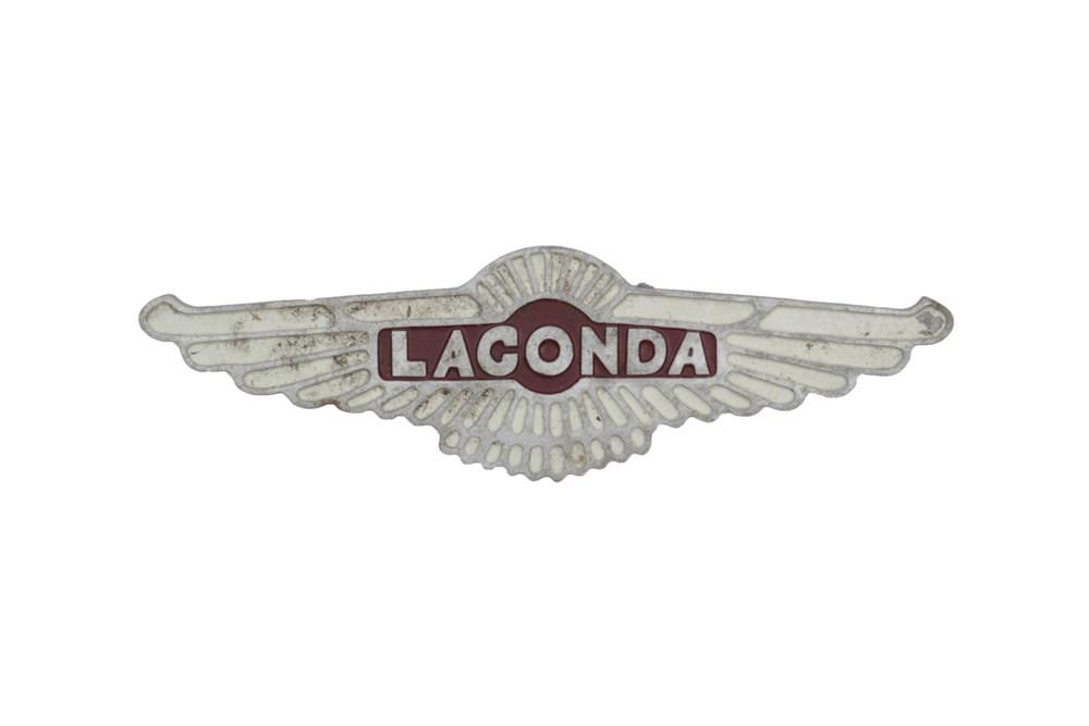 Lot 37 - A Lagonda Wall Plaque