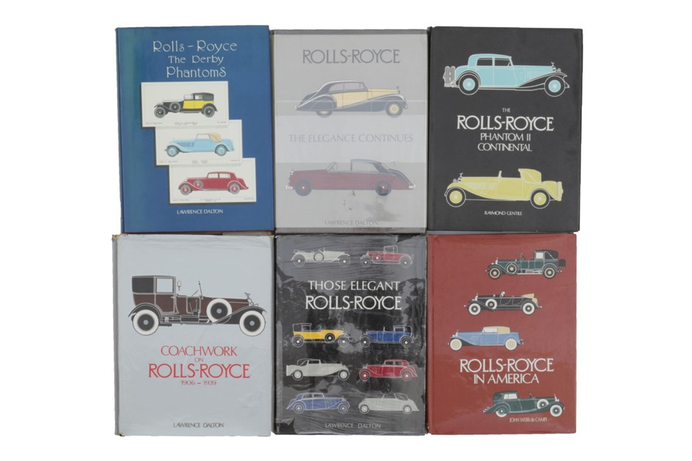 Lot 50-Six Books Relating to the Rolls-Royce Marque